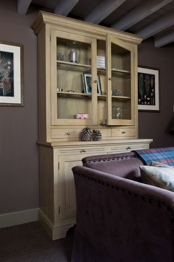 Henley 4ft Glazed Rack Dresser *Neptune > Sideboards & Dressers