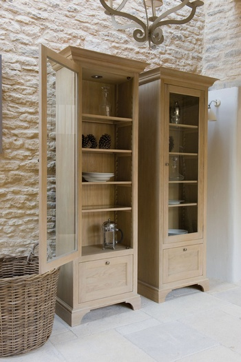 Henley Full Height Glazed Cabinet - right *Neptune > Sideboards & Dressers