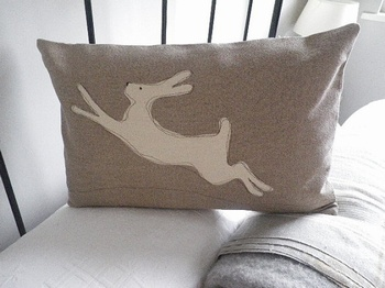 Helkat Stone Leaping Hare Baytree Interiors > Cushions