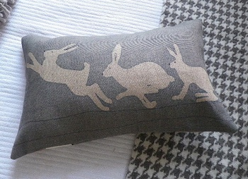 Helkat Blue Grey Triptyque Cushion Baytree Interiors > Cushions