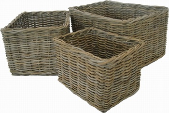Glenweave Rattan Rectangular Basket - Large Baytree Interiors > Baskets