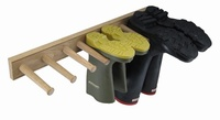 Oak Wellie Boot Rack